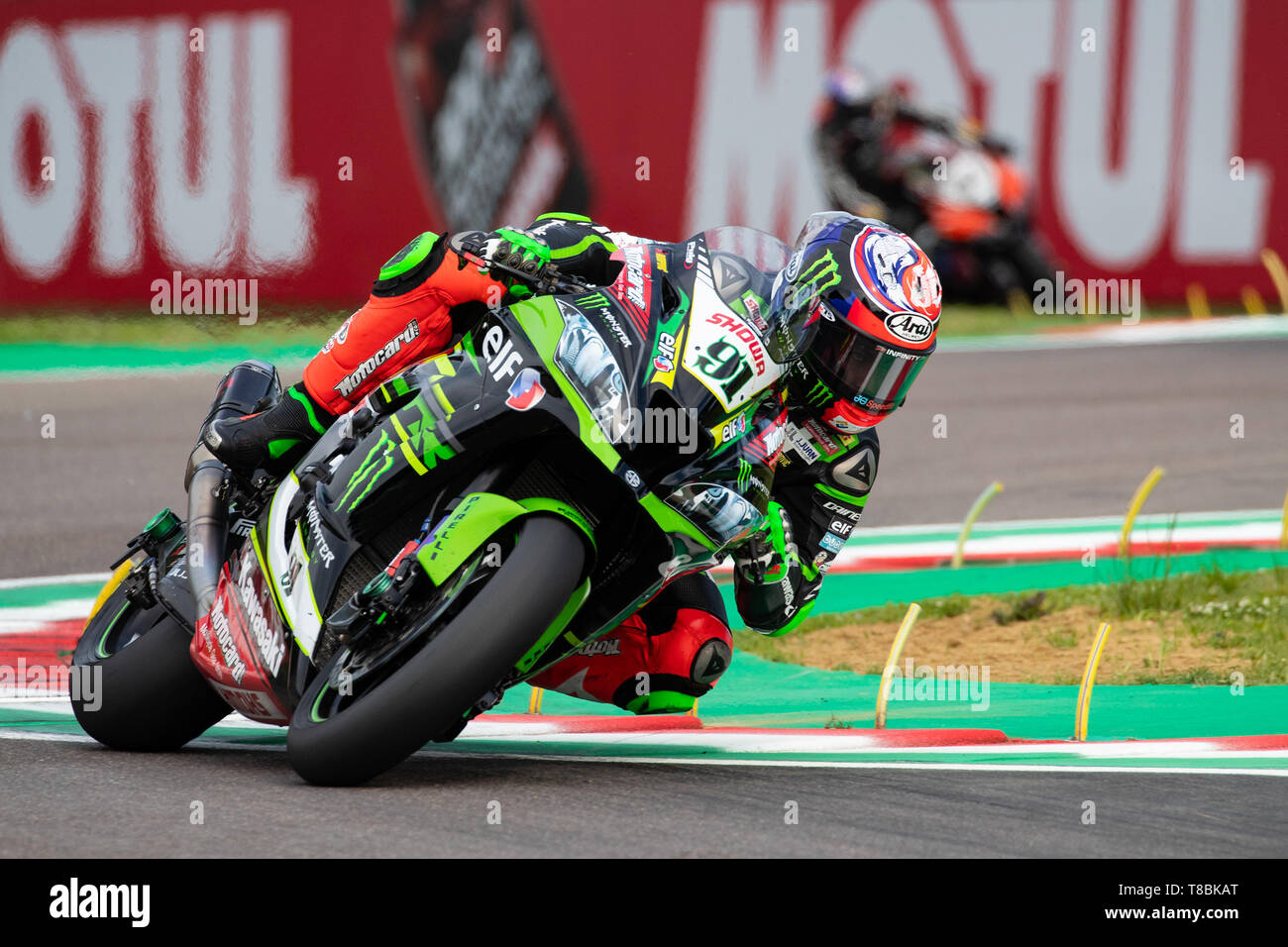 WorldSBK Superbike championship weekend in the italian circuit of Imola Dino and Enzo Ferrari Stock Photo