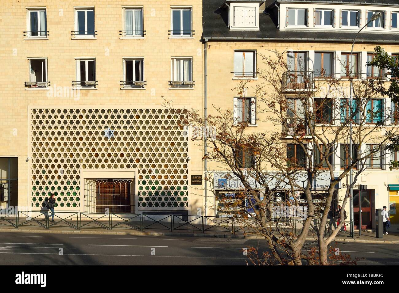 France, Calvados, Caen, the synagogue - Stock Image