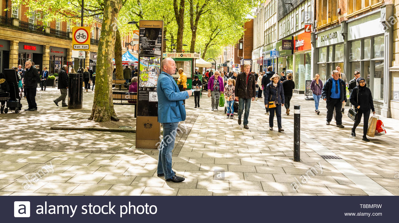 Peter Ward, candidate for the Renew Party in the June 2019 Peterborough by-election, campaigning in Peterborough EDITORIAL USE ONLY - Stock Image