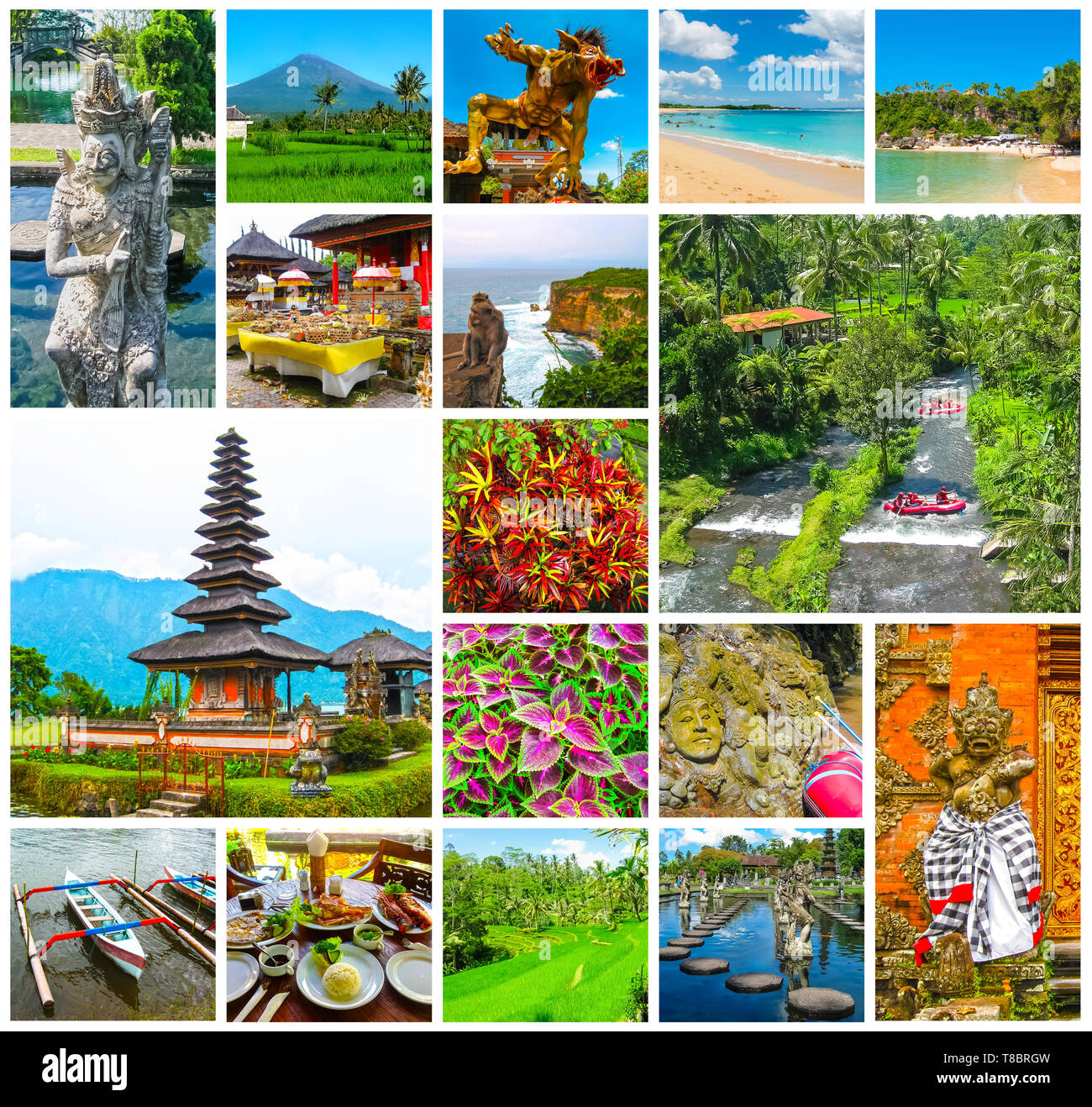 The collage on the theme of Bali, Indonesia - Stock Image