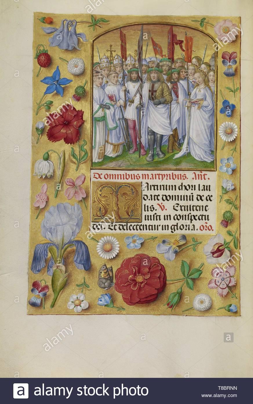 Master of James IV of Scotland, illuminator (Flemish, before 1465 - about 1541)-All Saints - Stock Image