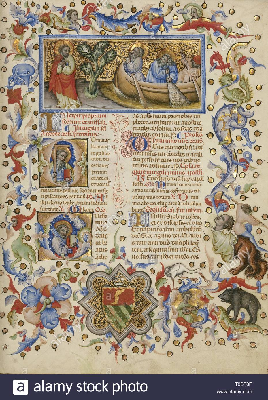 Master of the Brussels Initials, illuminator (Italian, active about 1389 - 1410)-Missal - Stock Image