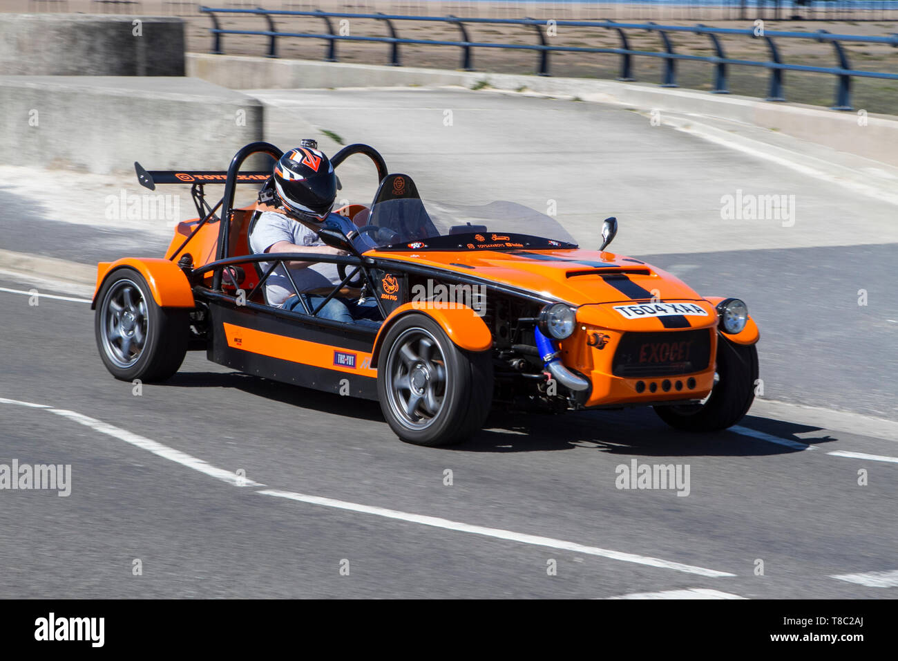 2016 red black Kit Car MEV Exocet-benscar at Southport, Merseyside. 12th May, 2019. UK Weather. Bright and sunny in Southport, Merseyside - Stock Image