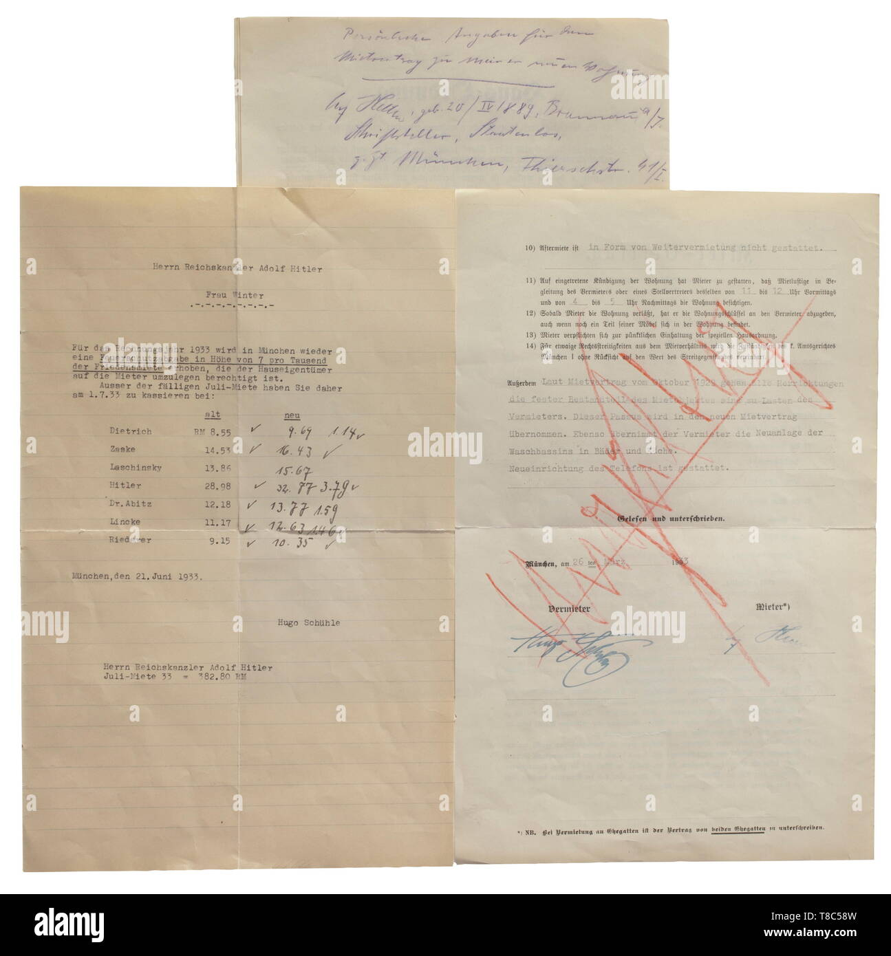 Anny Winter A Rental Agreement Of Adolf Hitler