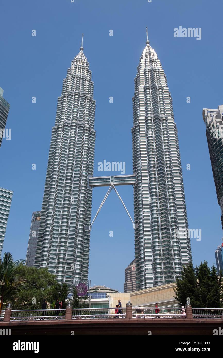 View Of Petronas Twin Towers From Klcc Park Kuala Lumpur