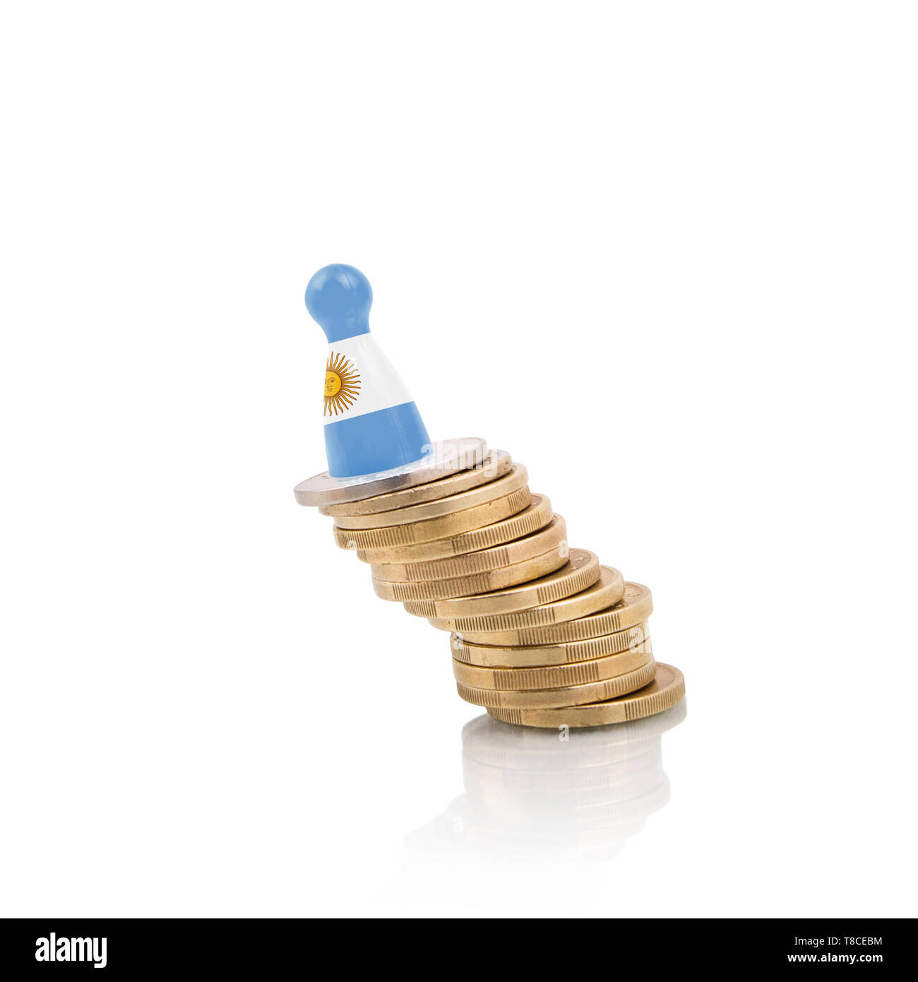 Argentine economy at risk concept - Stock Image