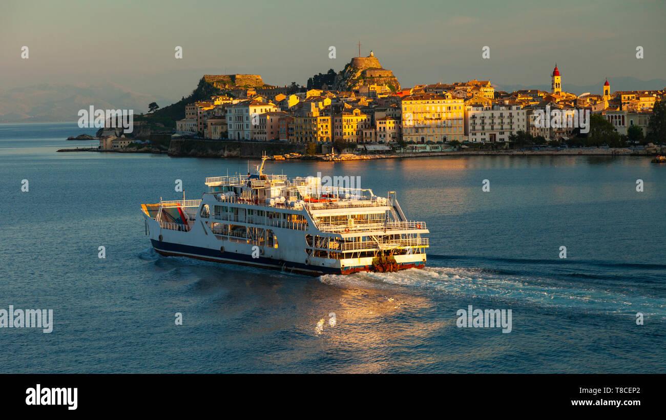 Ciudad de Corfú, Isla Corfú, Islas Jónicas, Grecia, Mar Mediterráneo - Stock Image