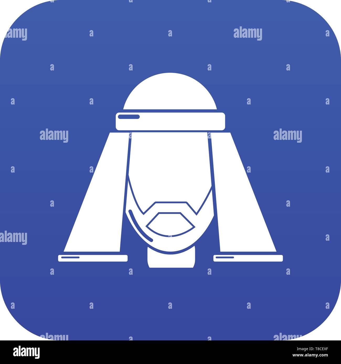 Man egypt icon blue vector - Stock Image