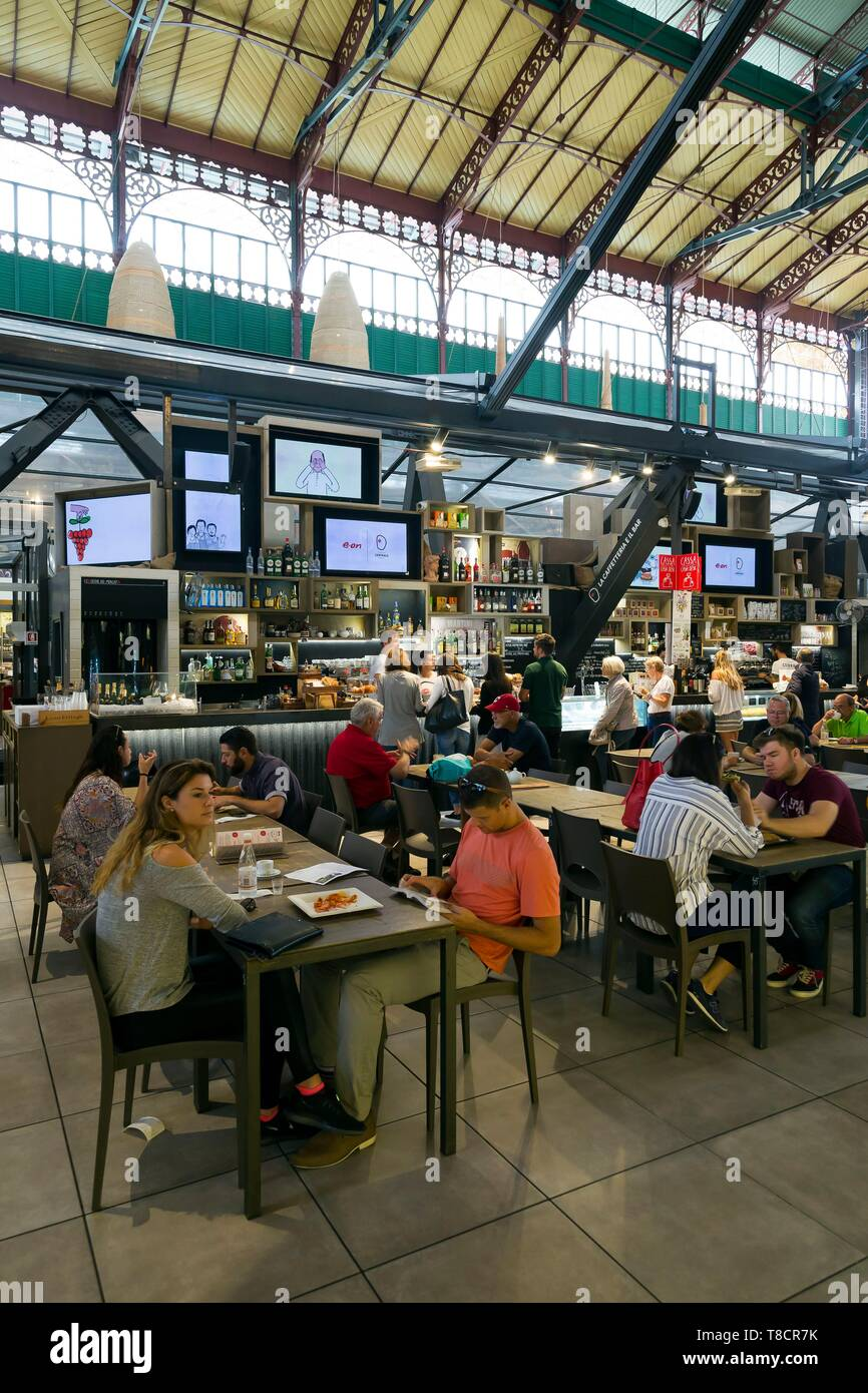 Italy, Tuscany, Florence, historic centre listed as World Heritage by UNESCO, Mercato Centrale - Stock Image