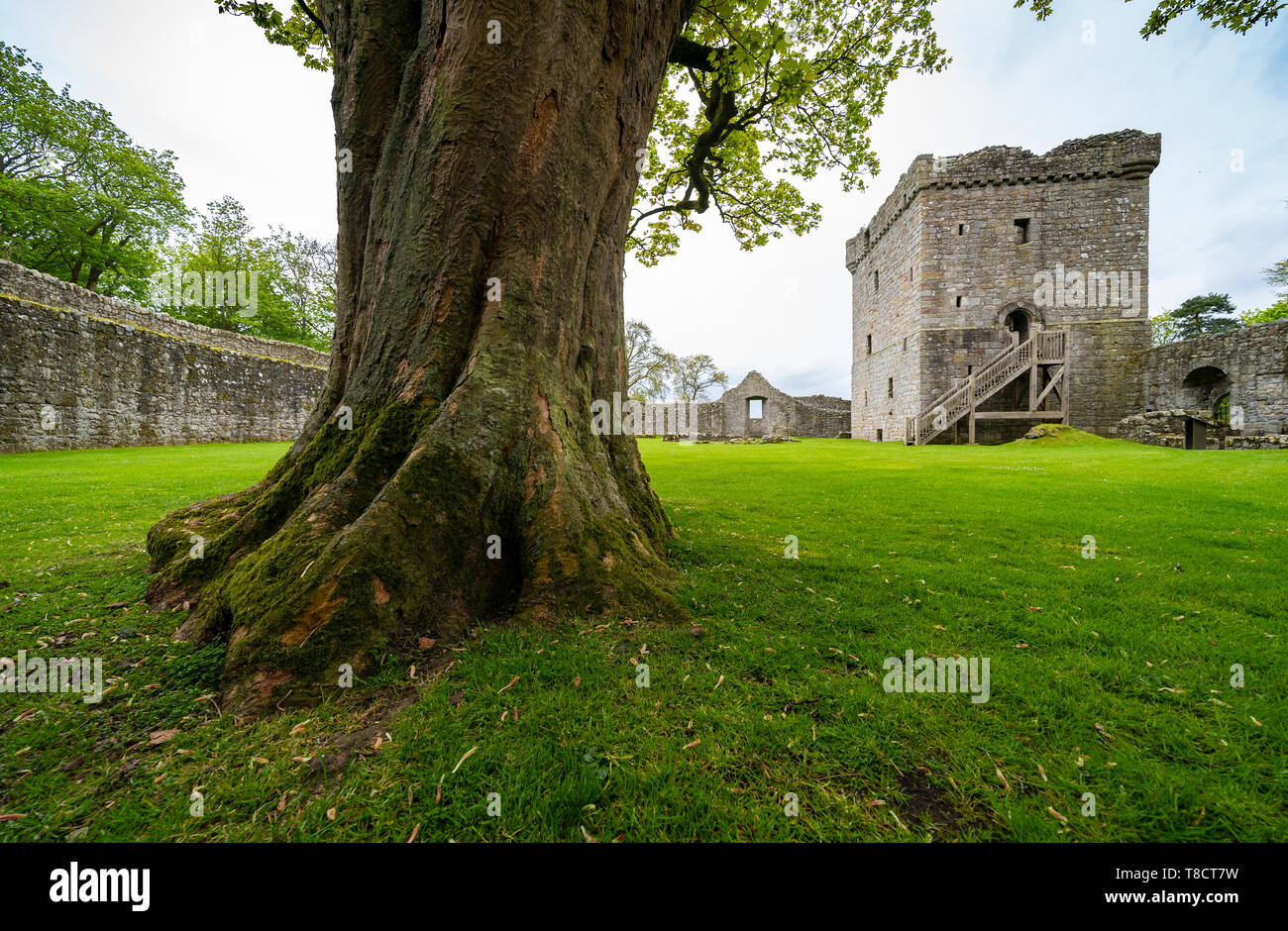Loch Leven Castle in Scotland, UK - Stock Image