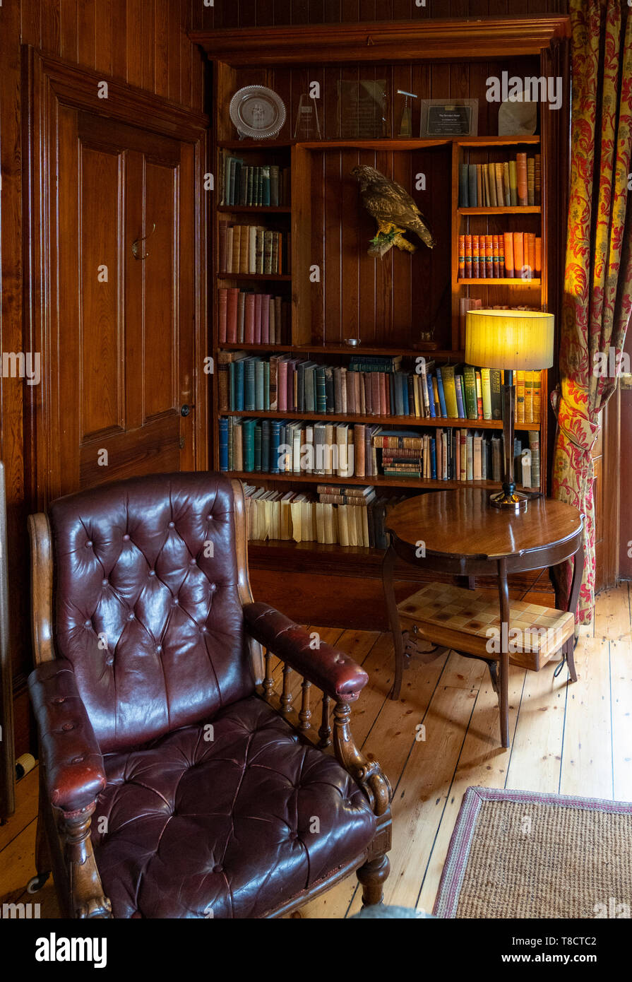 Library detail  at Torridon Hotel on the North Coast 500 scenic driving route in northern Scotland, UK - Stock Image