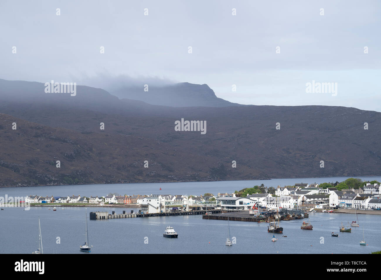View of Ullapool on  the North Coast 500 scenic driving route in northern Scotland, UK - Stock Image