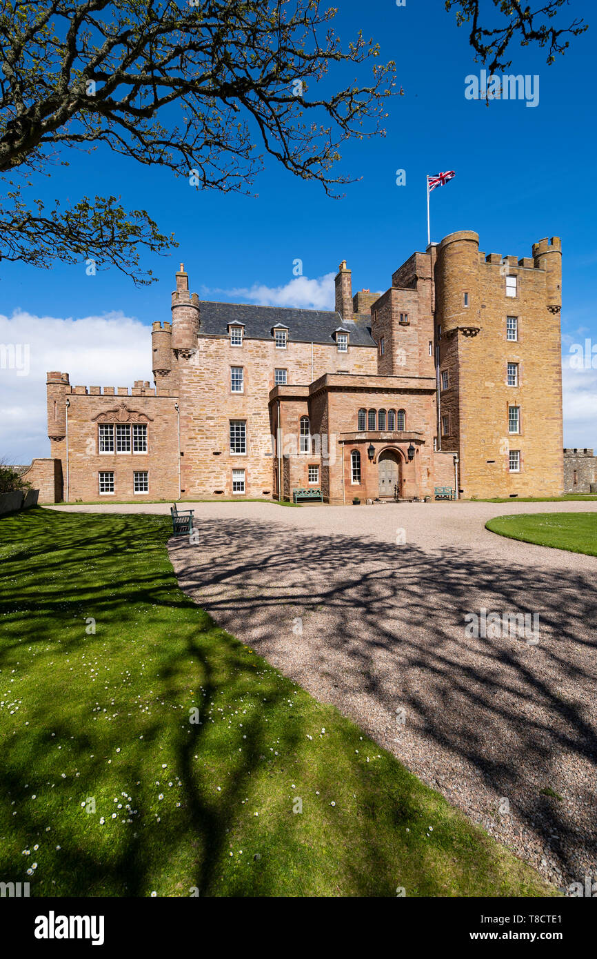 Castle of Mey on the North Coast 500 scenic driving route in northern Scotland, UK - Stock Image