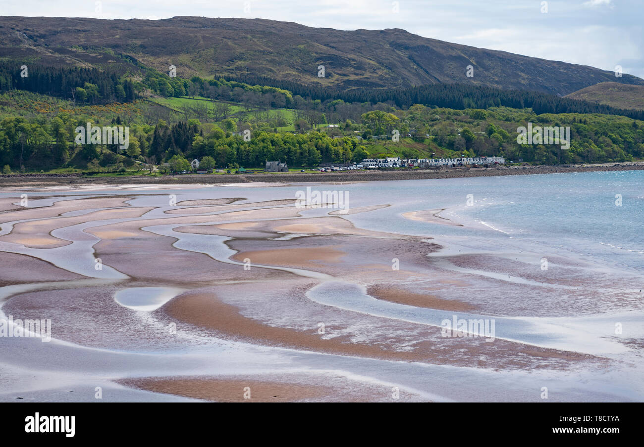 View of village of Applecross on the North Coast 500 scenic driving route in northern Scotland, UK - Stock Image