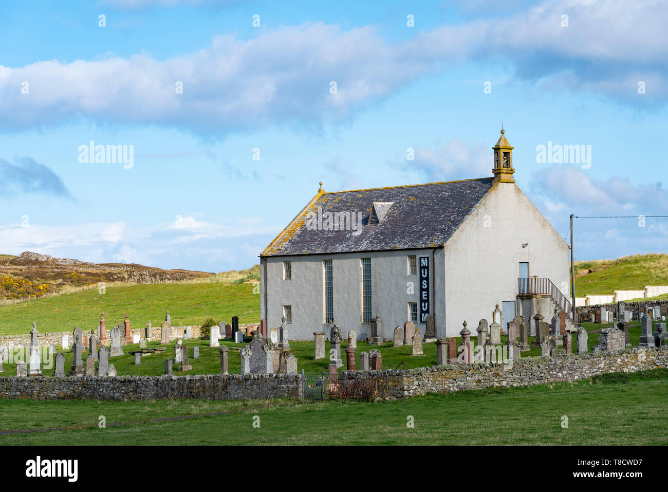 Strathnaver Museum at Bettyhill on  the North Coast 500 scenic driving route in Sutherland northern Scotland, UK - Stock Image