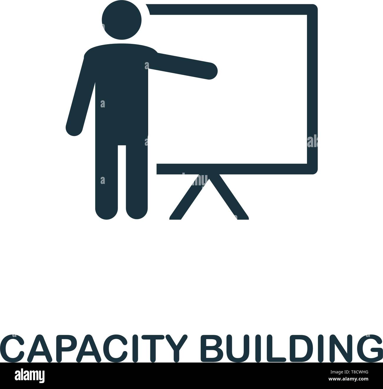 Capacity Building icon. Creative element design from business strategy icons collection. Pixel perfect Capacity Building icon for web design, apps, so - Stock Vector