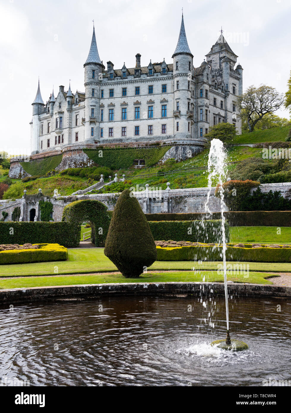 Dunrobin Castle on the North Coast 500 scenic driving route in northern Scotland, UK - Stock Image
