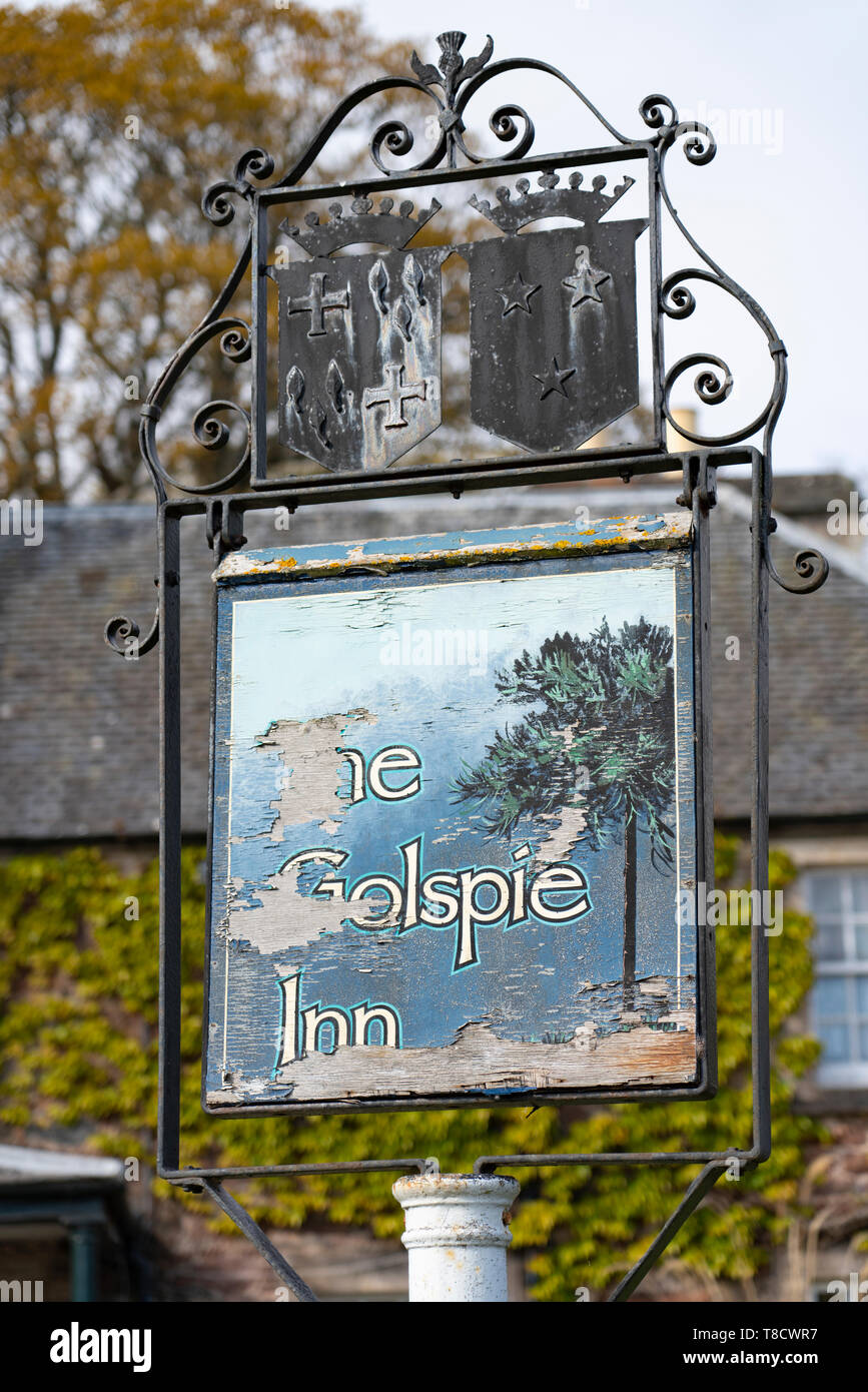 The Golspie Inn  on  the North Coast 500 scenic driving route in northern Scotland, UK - Stock Image