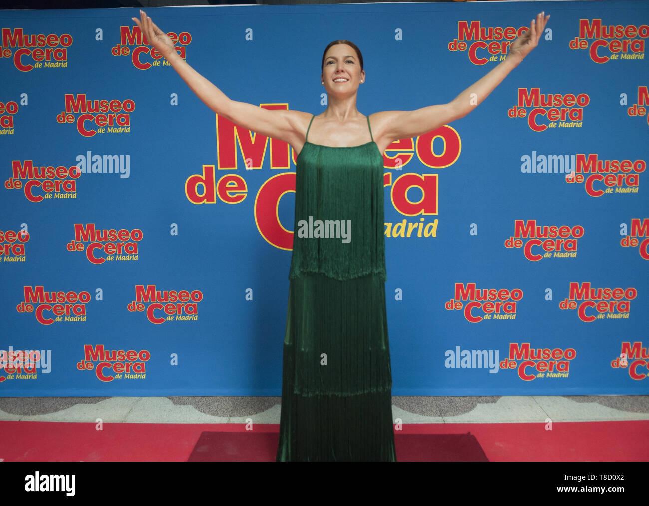Flamenco dancer Sara Baras inaugurates her wax figure at the Wax Museum of Madrid  Featuring: Sara Baras Where: Madrid, Spain When: 11 Apr 2019 Credit: Oscar Gonzalez/WENN.com - Stock Image