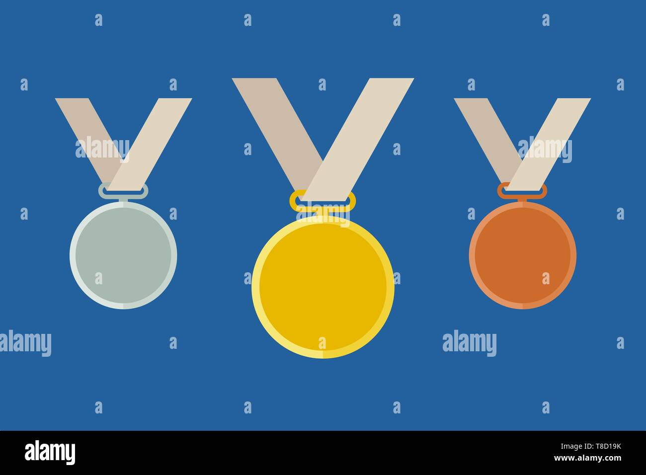 Olympic medal templates - Stock Vector