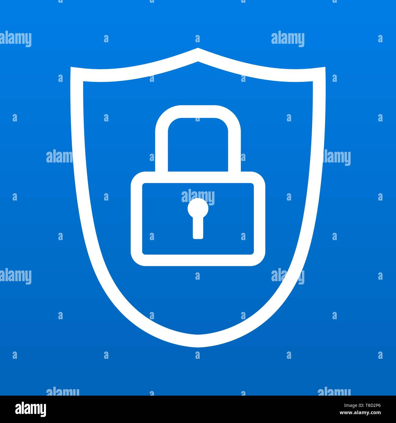 Shield icon symbol with security lock for safety and protection vector illustration 2 - Stock Image