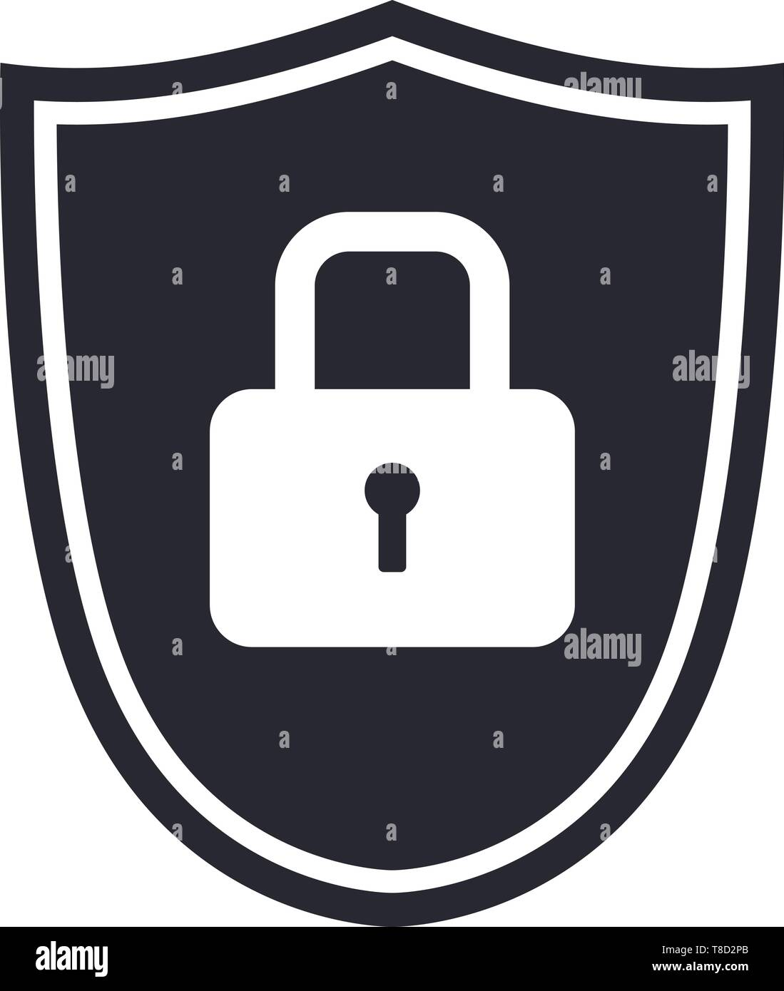 Shield icon symbol with security lock for protection vector illustration 2 - Stock Vector