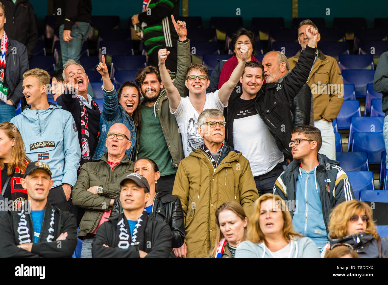 12 May 2019 Rotterdam The Netherlands Soccer Dutch Eredivisie Feyenoord V Ado Den Haag Feyenoord Supporter Stock Photo Alamy