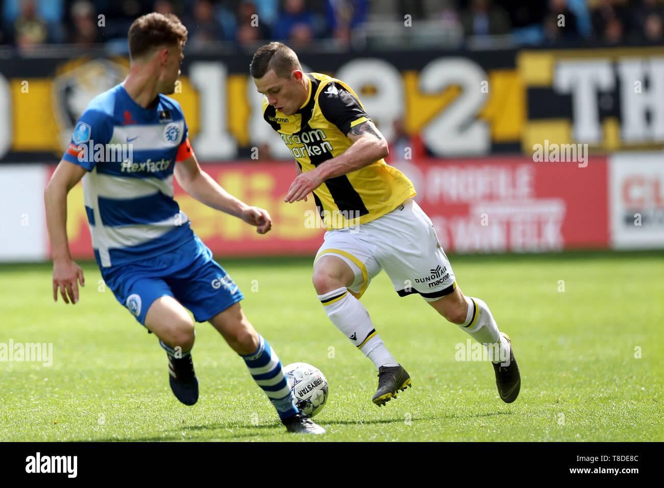 12 may 2019 Doetinchem, The Netherlands Soccer Dutch Eredivisie De Graafschap v Vitesse   L-R: Bart Straalman of de Graafschap en Thomas Buitink of Vi - Stock Image