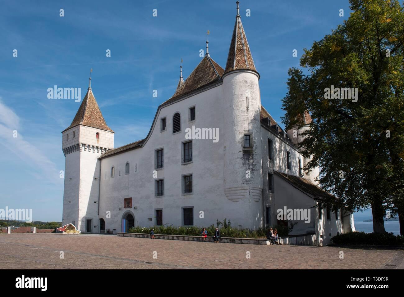 Switzerland, Canton of Vaud, Nyon, the castle - Stock Image