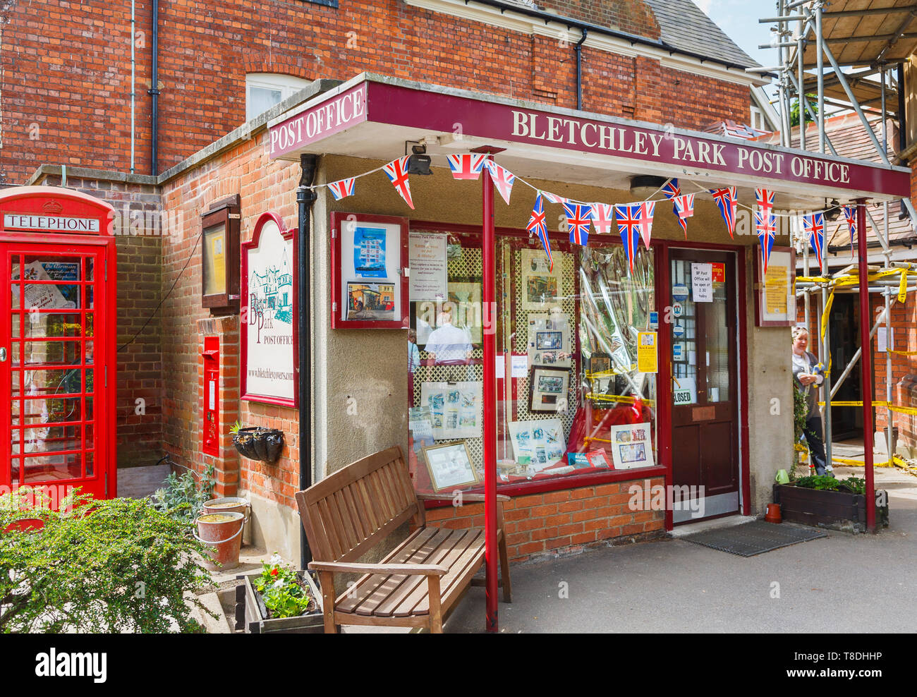 Post Office at Bletchley Park, once the top-secret home of the World War Two Codebreakers, now a leading heritage attraction - Stock Image