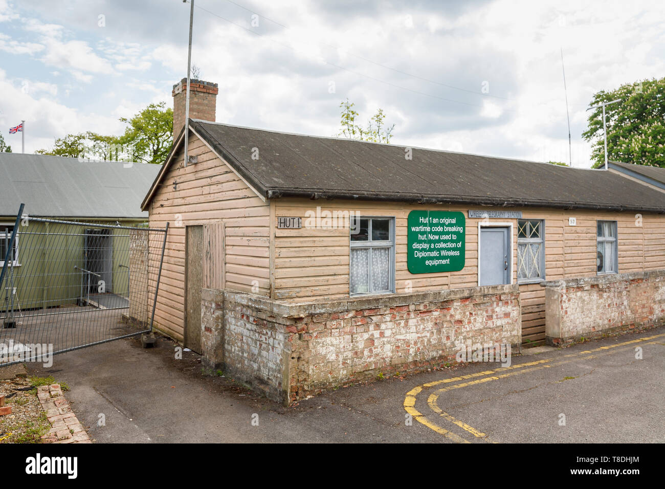 Hut 1 at Bletchley Park, once the top-secret home of the World War Two Codebreakers, now a leading heritage attraction - Stock Image