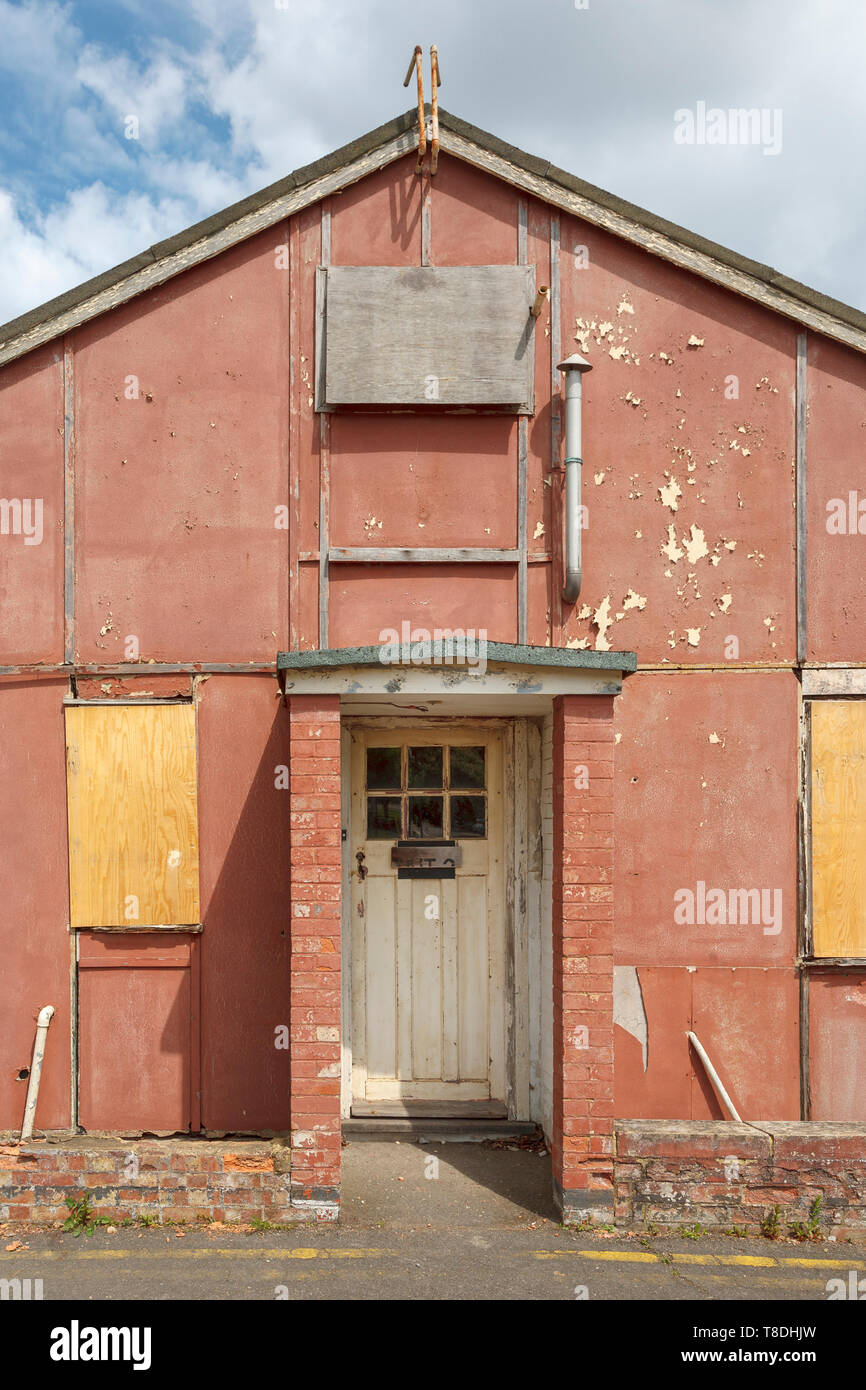 Entrance to Hut 3 at Bletchley Park, once the top-secret home of the World War Two Codebreakers, is now a leading heritage attraction - Stock Image