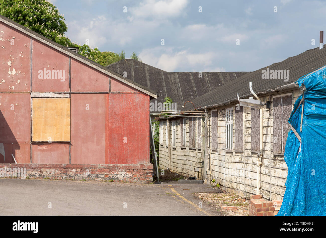 Sides of Hut 3 and Hut 6 at Bletchley Park, once the top-secret home of the World War Two Codebreakers, now a leading heritage attraction - Stock Image