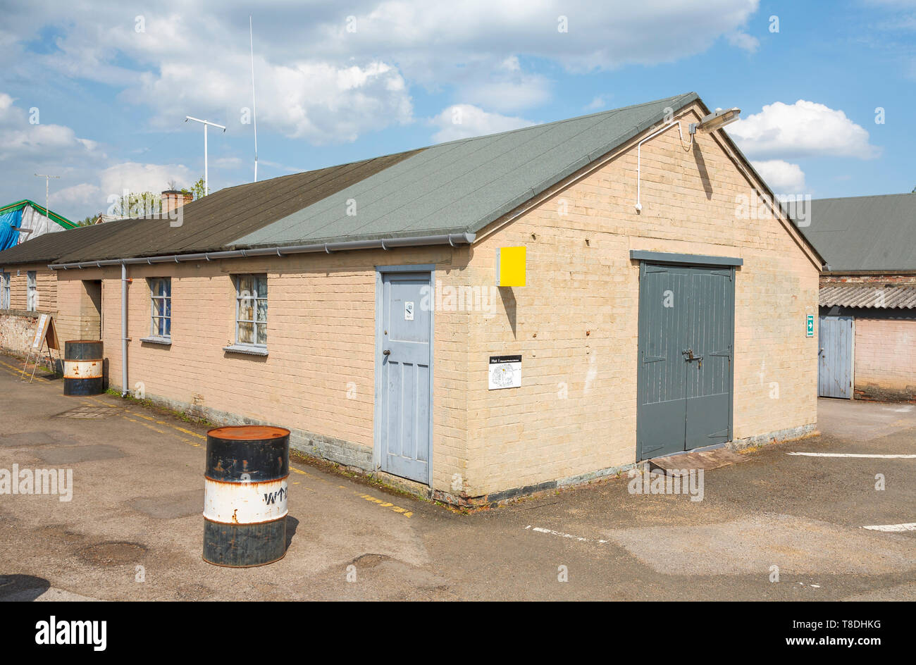 Hut 1 at Bletchley Park, once the top-secret home of the World War Two Codebreakers, is now a leading heritage attraction - Stock Image