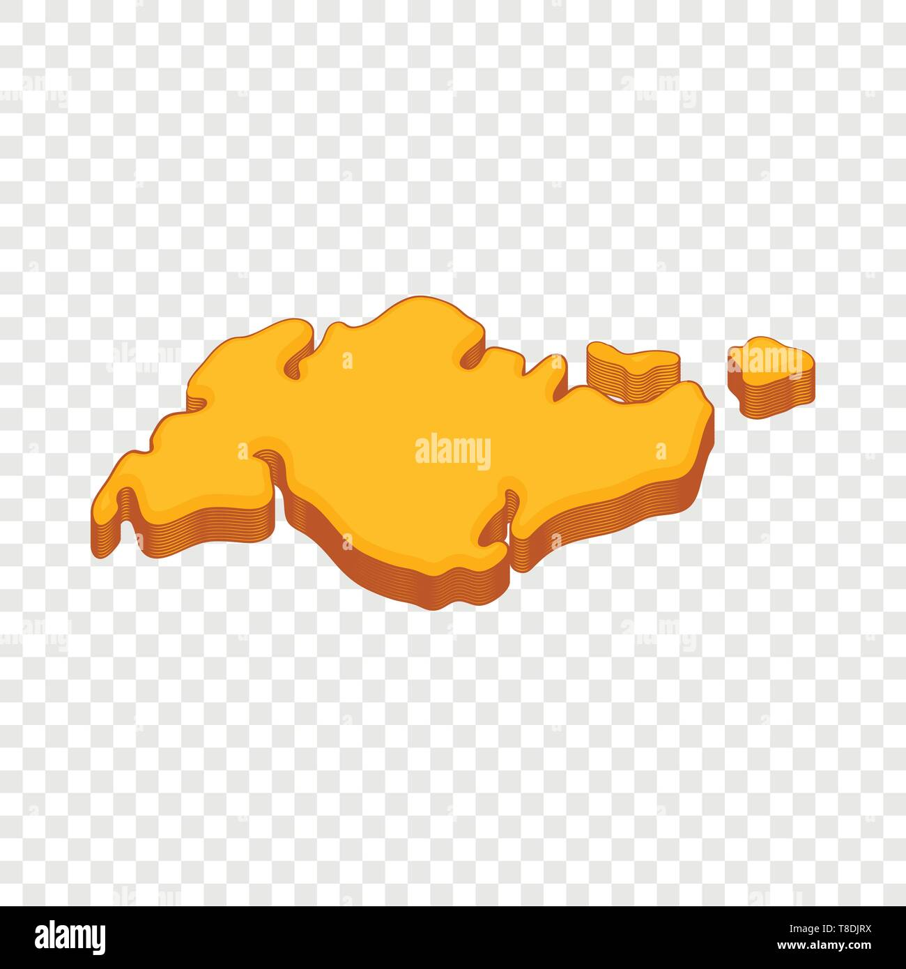 Continent icon, cartoon style - Stock Image