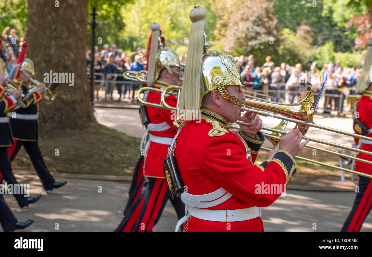 Hyde Park London, UK. 12th May 2019. The 95th Combined Cavalry Old Comrades Association Annual Parade and Service takes place in London. Stock Photo
