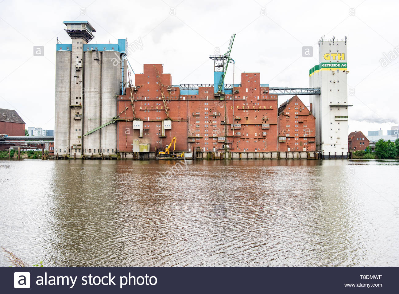 Hamburg, Germany. A harbour industrial estate building, aimed at production and logistic, between Germany and the rest of the world, of all kinds of l - Stock Image