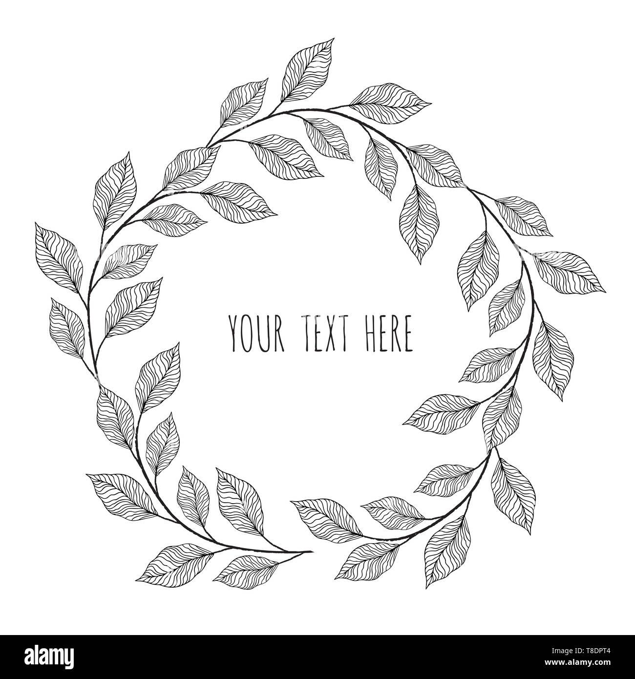 designer elements set collection of greeng leaves herbs - Stock Image
