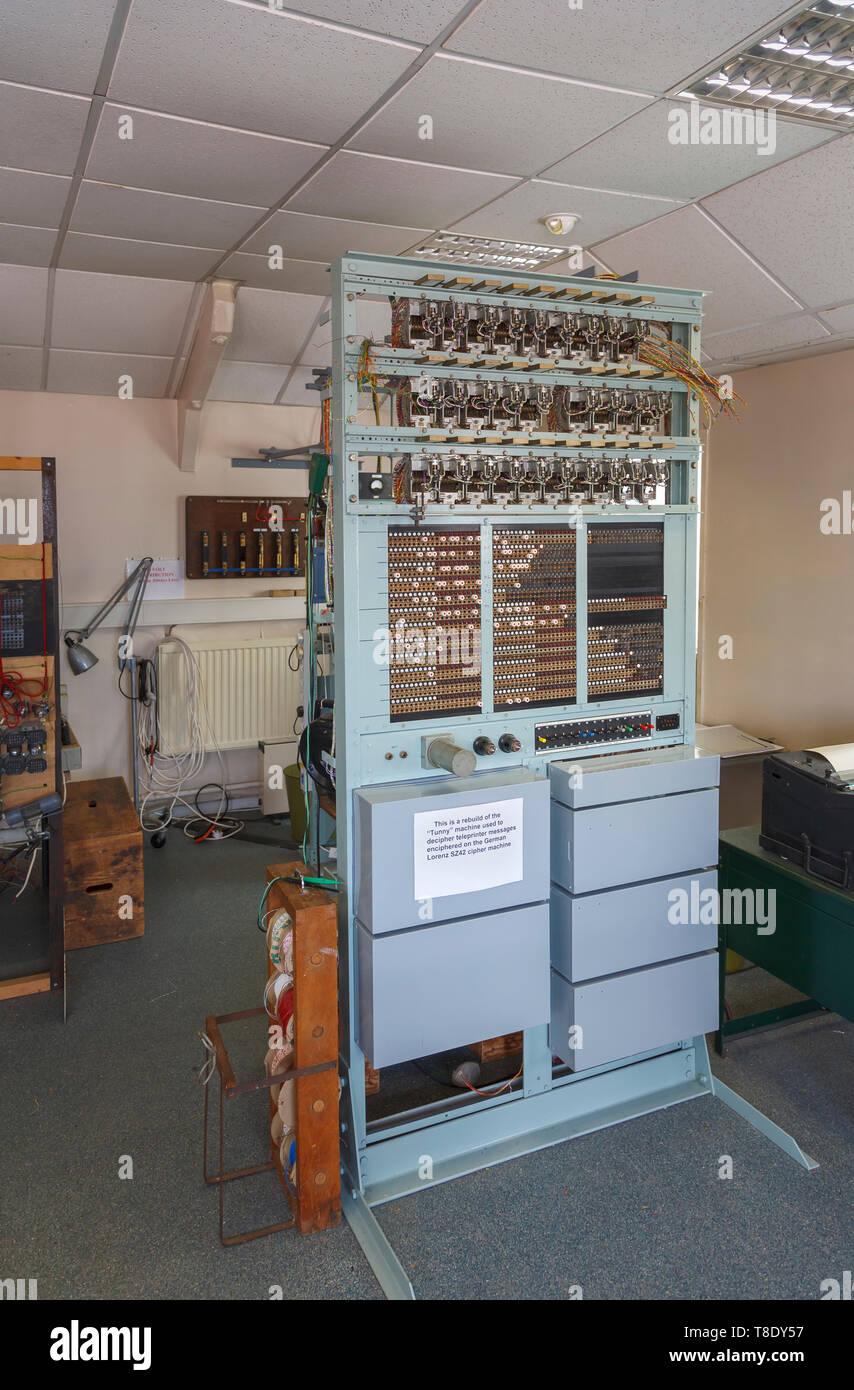 Replica of the Tunny Machine at Bletchley Park, once the top-secret home of the World War Two Codebreakers, now a leading heritage attraction - Stock Image