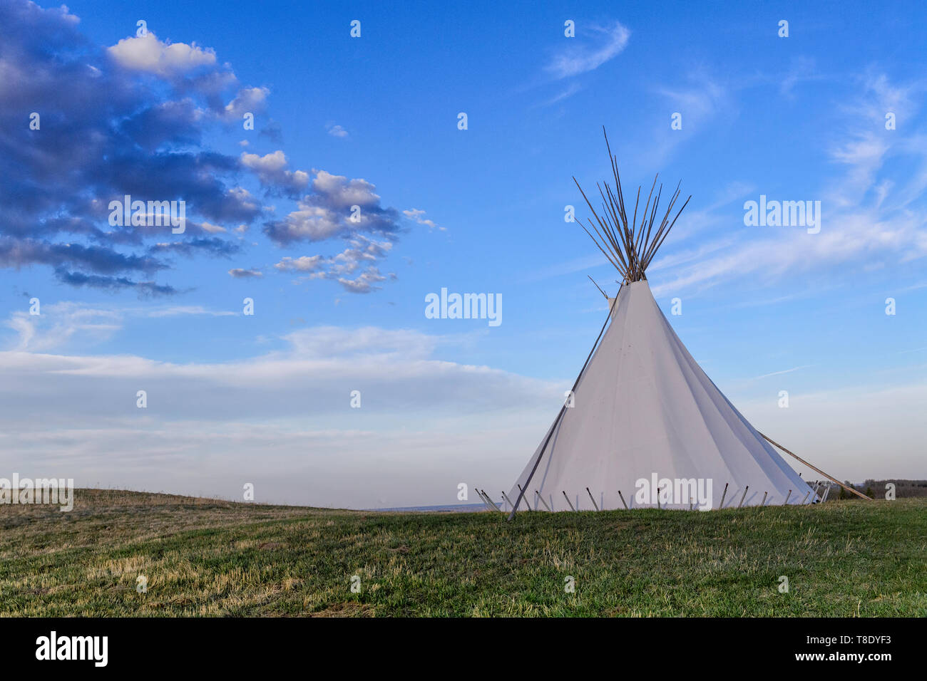 First Nations teepee or tipi - Stock Image