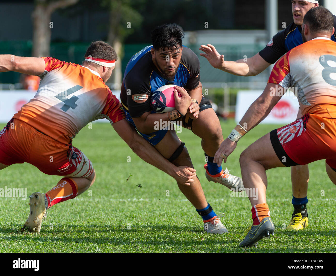 Hong Kong, China. 12th May, 2019. Henry STOWERS in action.Western Force vs South China Tigers Global Rapid Rugby. The Western Force make their inaugural appearance in Hong Kong facing off against the FWD South China Tigers in the finale of the Global Rapid Rugby Asian Showcase Series Credit: Jayne Russell/ZUMA Wire/Alamy Live News Stock Photo