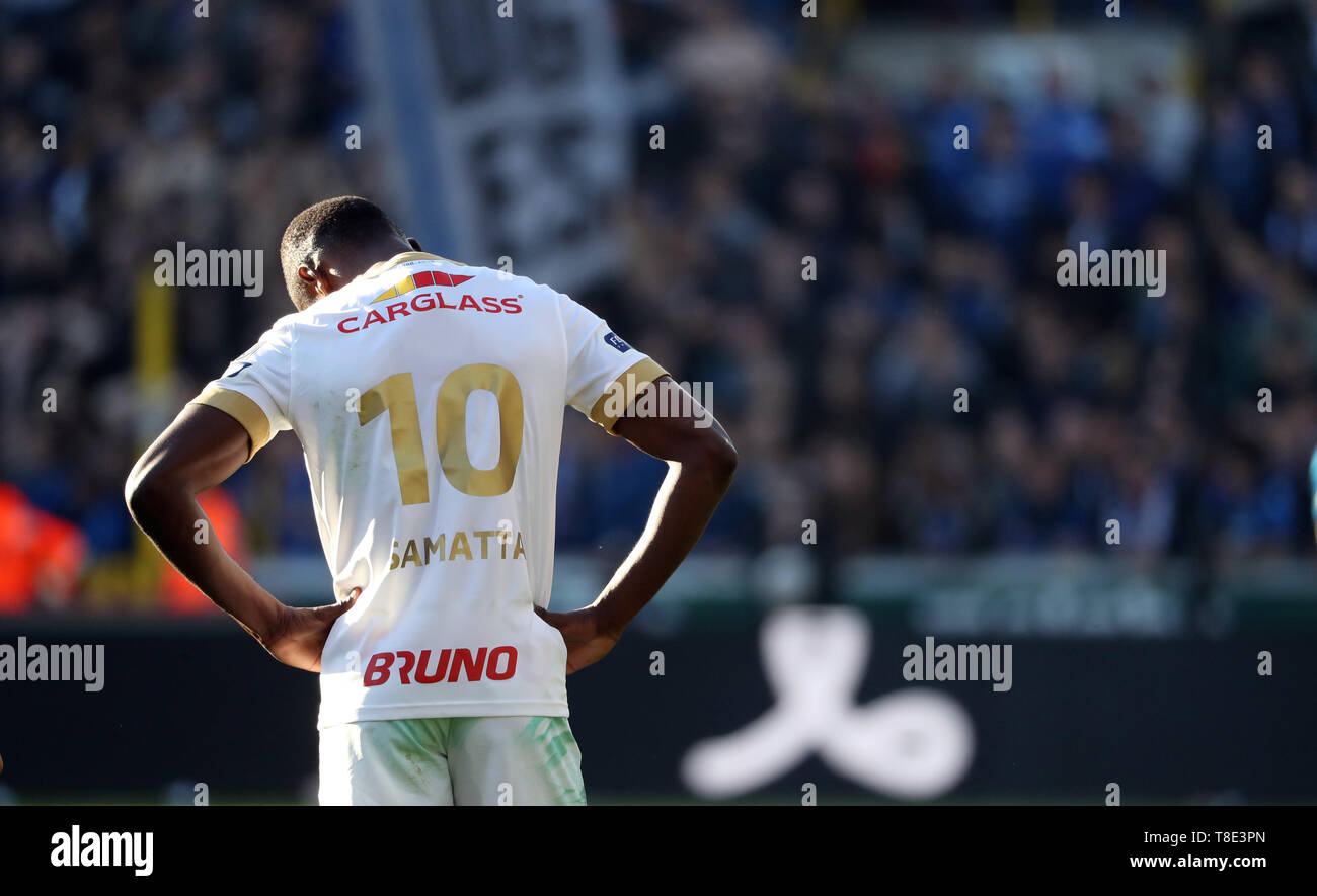 Brugge Belgium May 12 Ally Samatta Of Genk Looks Dejected During The Jupiler Pro League Play