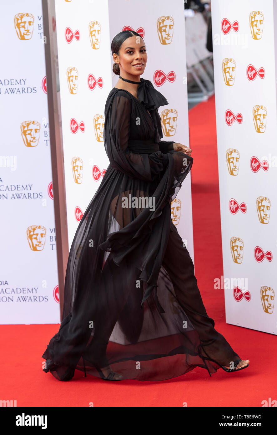 London, UK. 12th May, 2019. Rochelle Humes attends the Virgin Media British Academy Television Awards at The Royal Festival Hall on May 12, 2019 in London, England. Credit: Gary Mitchell, GMP Media/Alamy Live News - Stock Image