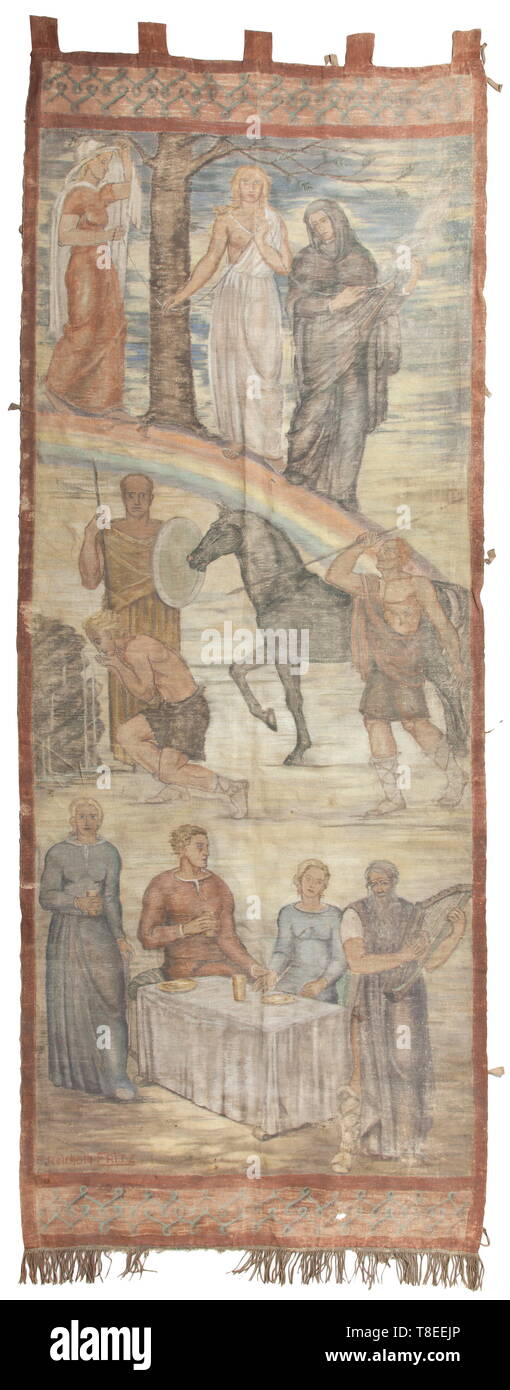 E Reinhold Fritz A Wall Hanging With Scenes From The