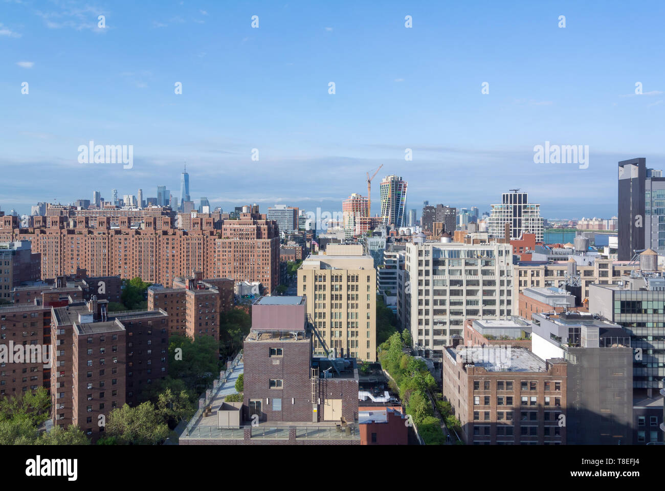 Aerial view of Chelsea district, New York, NY, United states of america, USA Stock Photo