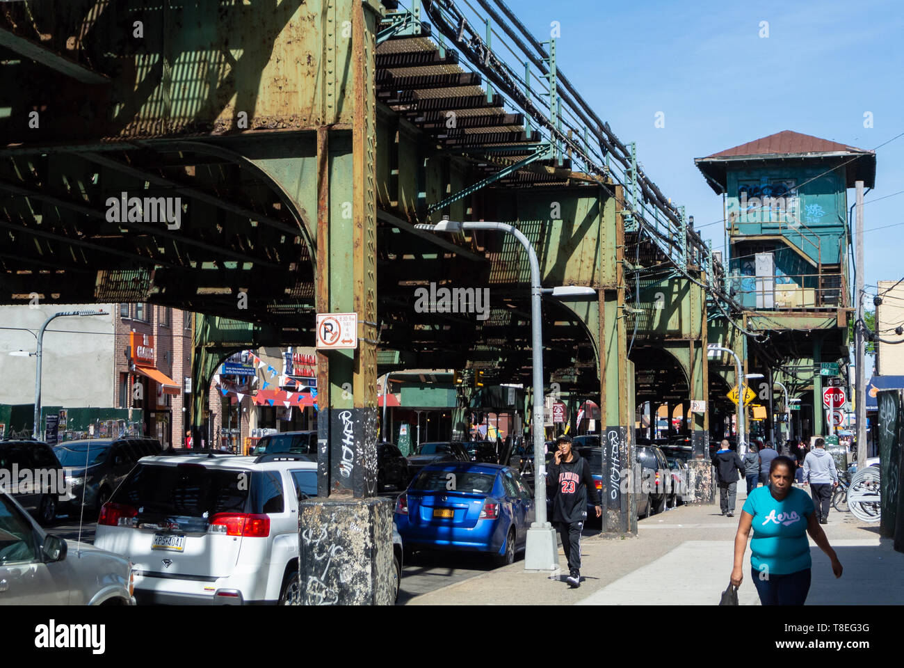 103rd Street Corona Plaza Subway Station, Queens, New York, united states of america, usa Stock Photo