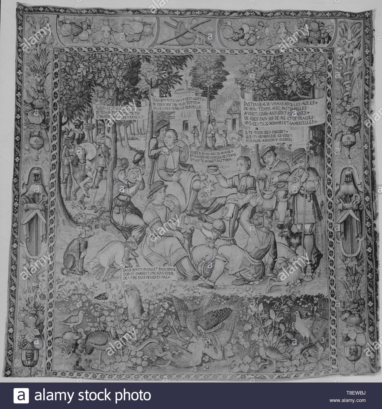 Leclerc, Jean (French, 1587-1633) (designed after) [printmaker]-Country meal, Image 1 - Stock Image