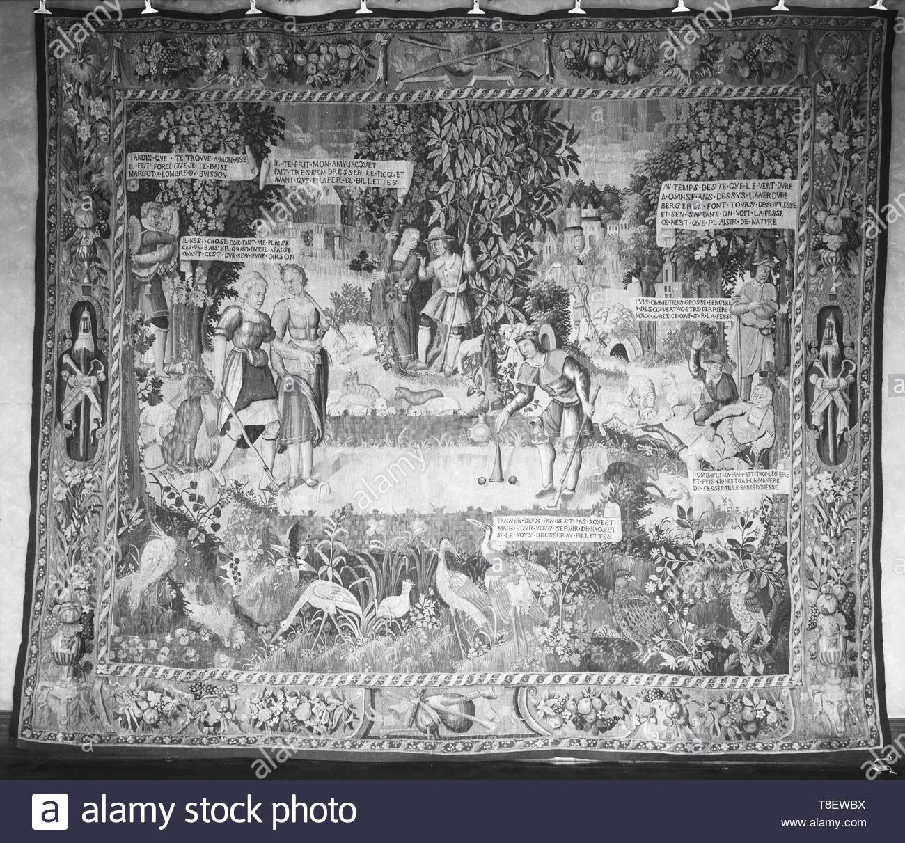 Leclerc, Jean (French, 1587-1633) (designed after) [printmaker]-Game of croquet, Image 1 - Stock Image