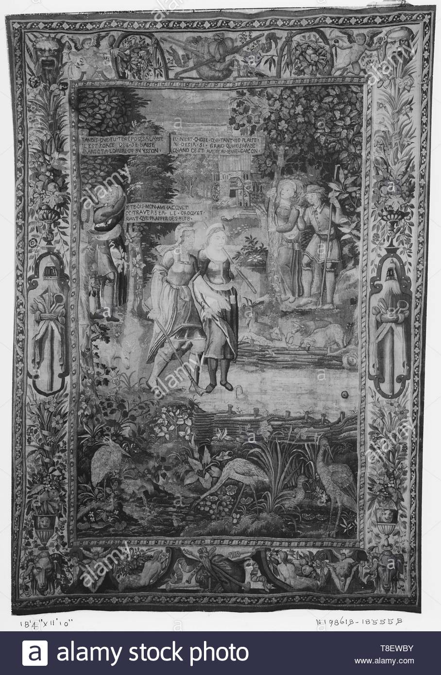 Leclerc, Jean (French, 1587-1633) (designed after) [printmaker]-Game of croquet, Image 2 - Stock Image