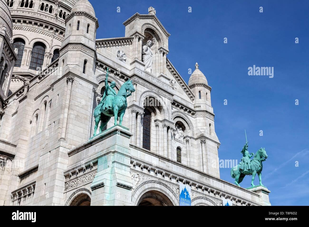 France, Paris, 18th District, Basilique du SacrÚ Coeur - Stock Image